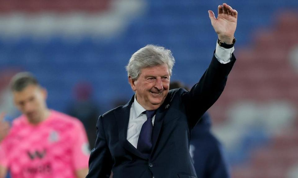 Roy Hodgson salutes Crystal Palace's fans on a night when he got a rousing send-off.