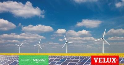 The VELUX Group and Schneider Electric Announce Extended Partnership to Accelerate Lifetime Carbon Neutral Commitment (CNW Group/Schneider Electric Canada Inc.)