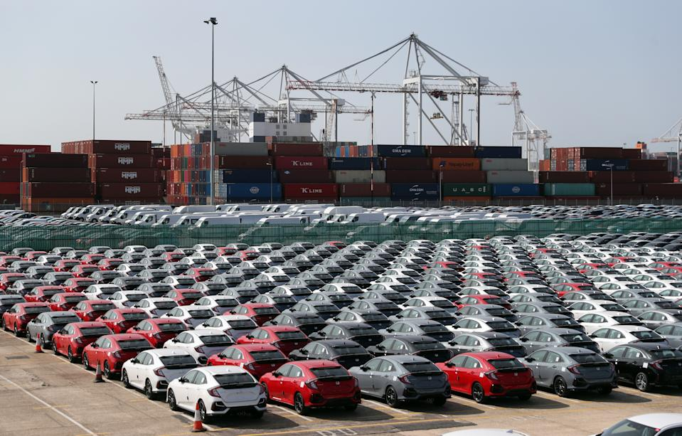 The UK car industry faces dire consequences if slapped with WTO trade tariffs in the EU. Photo: Andrew Matthews/PA via Getty