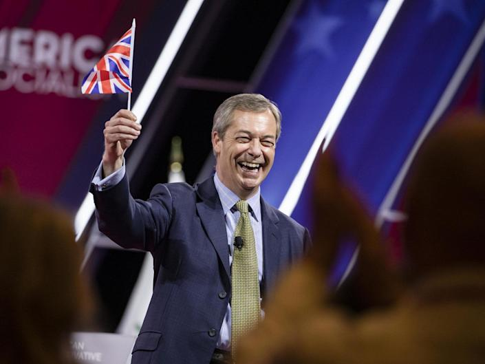 Nigel Farage speaks at the Conservative Political Action Conference 2020: Getty