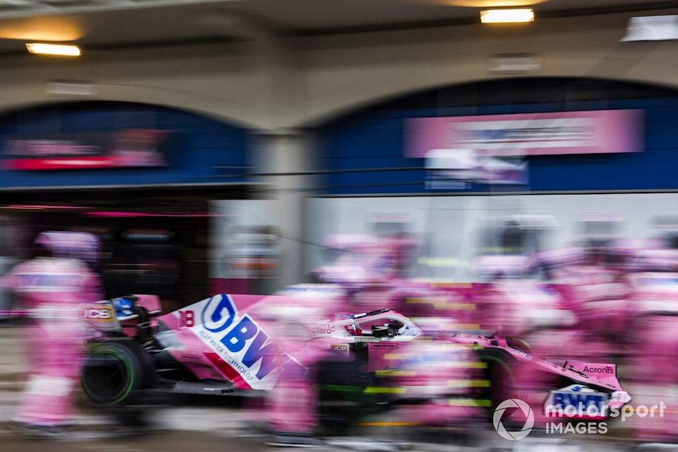"Lance Stroll, Racing Point RP20, en pits<span class=""copyright"">Glenn Dunbar / Motorsport Images</span>"