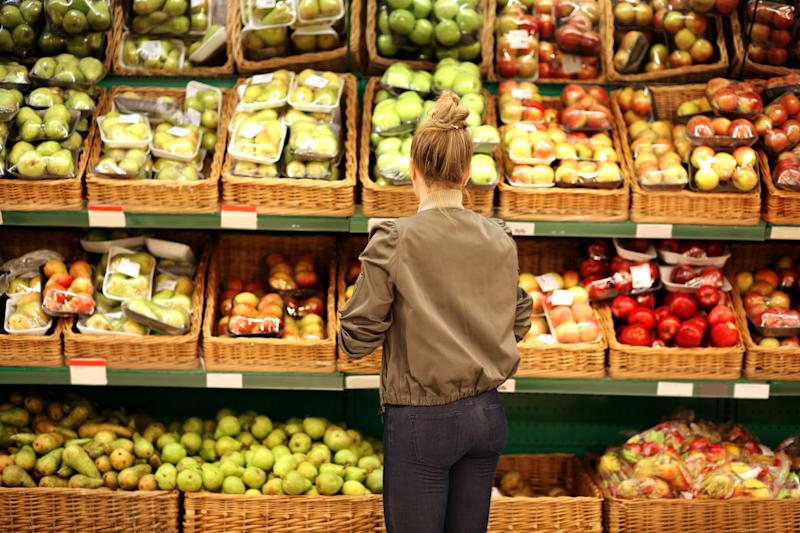 """Quit like a Millionaire"" authors cut down on food costs by grocery shopping instead of eating out."