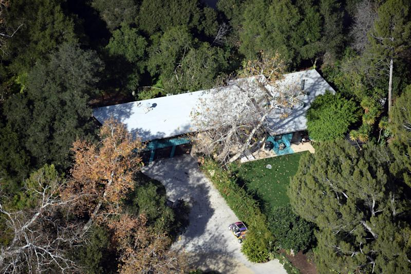 An aerial view of Miley's new 'bachelorette pad'. Photo: Australscope.