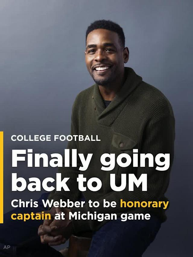 Via an invitation from Jim Harbaugh, Chris Webber is planning a trip to the University of Michigan to be an honorary captain for a football game.