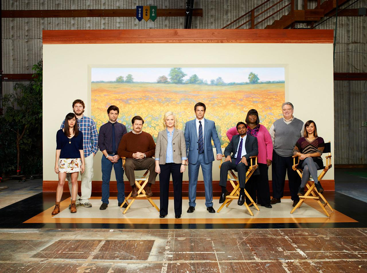 "The cast of NBC's ""Parks and Recreation."""