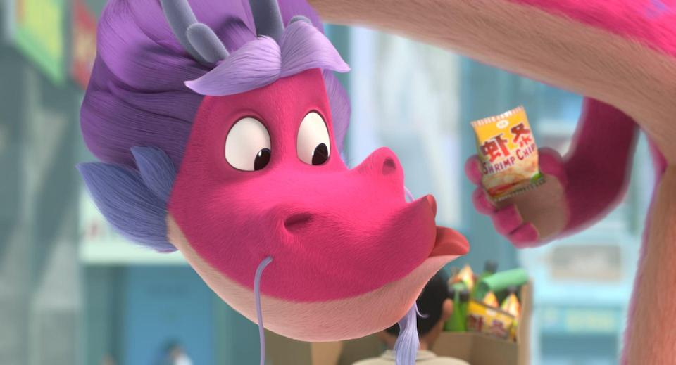 "<p>Based on an original story by Chris Appelhans, <strong>Wish Dragon</strong> sees a college student named Din team up with a wish-granting dragon named Long in order to find Din's childhood best friend. It features the voice talents of John Cho, Natasha Liu Bordizzo, Jimmy Wong, Constance Wu, Jimmy O. Yang, Bobby Lee, and Ronnie Chieng.</p> <p><strong>When it's available: </strong><a href=""https://www.netflix.com/title/81153694"" class=""link rapid-noclick-resp"" rel=""nofollow noopener"" target=""_blank"" data-ylk=""slk:June 11"">June 11</a></p>"
