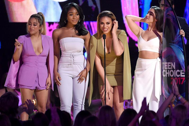 All over: Ally Brooke, Normani Kordei, Dinah Jane, and Lauren Jauregui of Fifth Harmony: Getty Images