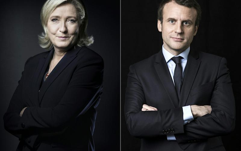 En Marche! centrist movement leader Macron edged out far-right leader Marine Le Pen in the first round - AFP