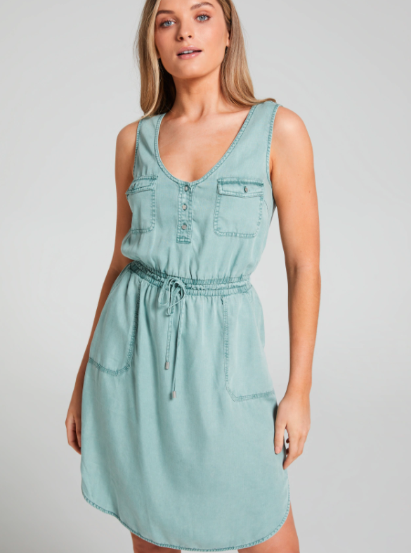 Many compared the buy to similar pieces like this $80 Carmen Lyocell Dress on sale for $50 at Just Jeans.  Photo: Just Jeans