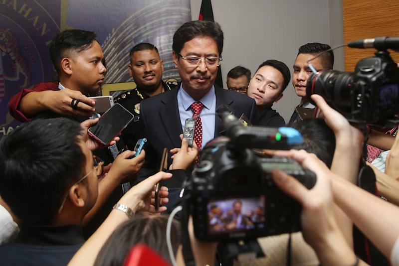 MACC deputy chief commissioner (operations) Datuk Seri Azam Baki said MACC today that it erred in notifying PKR about suspicions of corruption involving two of its members. — Picture by Choo Choy May
