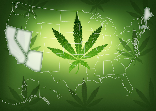 The issue of legalizing recreational marijuana will be on the ballot in five states. (Photo: AP/Yahoo News)