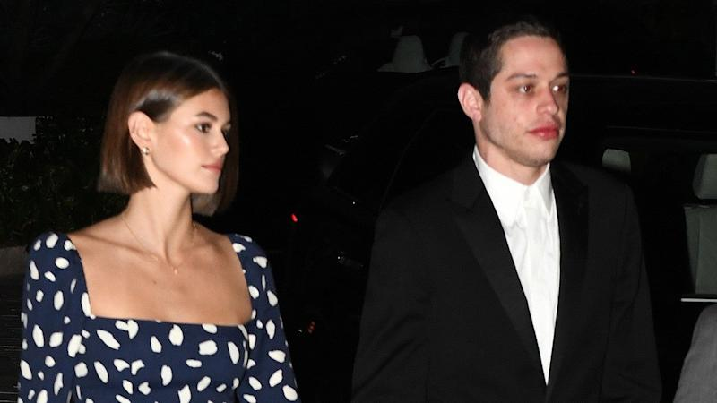Pete Davidson and Kaia Gerber Dress Up for Friend's Wedding in Miami -- Pic