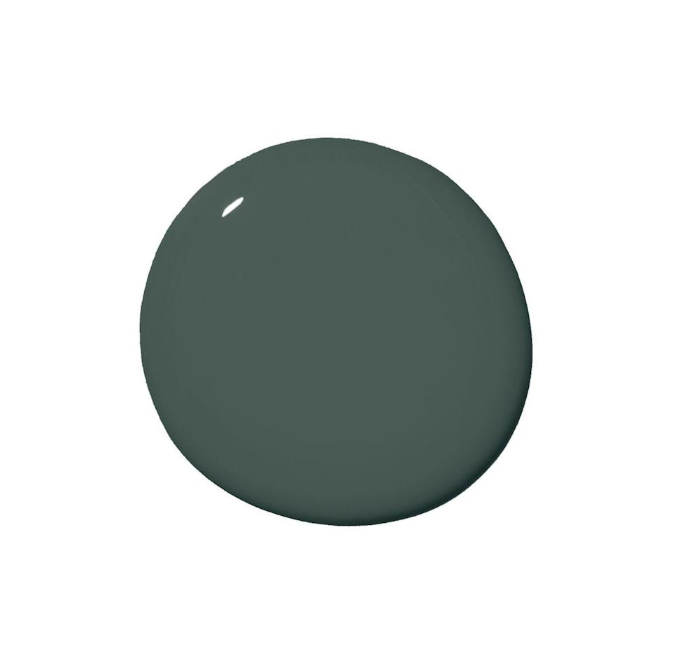 """<p>""""<a href=""""https://www.clare.com/paint/wall/current-mood"""" target=""""_blank"""">Current Mood</a> is a bold, moody green that is one of our most loved colors on Instagram!"""" says designer <a href=""""http://nicolegibbons.com/"""" target=""""_blank"""">Nicole Gibbons</a> of Clare paint. """"While the idea of a dark color may sound intimidating for a small space, bold colors can have a dramatic impact on a small space,"""" she explains.</p> <p>""""Current mood is the polar opposite of the 'safe neutrals' people tend to gravitate towards. It's a rich, sophisticated color perfect for bringing drama to a room and would look stunning in a small space such as a powder room or entryway."""" </p>"""