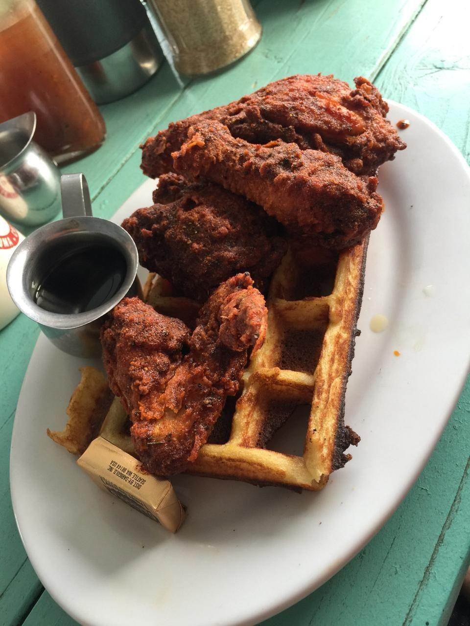 """<p><a href=""""https://www.tripadvisor.com/Restaurant_Review-g33107-d2325083-Reviews-The_Fremont_Diner-Sonoma_Sonoma_County_California.html"""" rel=""""nofollow noopener"""" target=""""_blank"""" data-ylk=""""slk:The Fremont Diner"""" class=""""link rapid-noclick-resp"""">The Fremont Diner</a><span class=""""redactor-invisible-space"""">, Somoma</span><br></p><p>Chicken and waffles are out of this world. - Foursquare user <a href=""""https://foursquare.com/gogoanita"""" rel=""""nofollow noopener"""" target=""""_blank"""" data-ylk=""""slk:Anita Gouloomian"""" class=""""link rapid-noclick-resp"""">Anita Gouloomian</a></p>"""
