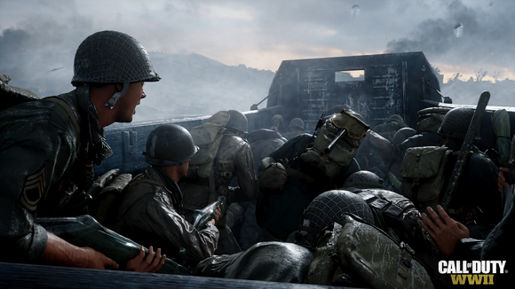 A screenshot of Activision Blizzard's Call of Duty: WWII game