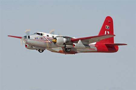 A P2V Lockheed Martin firefighting air tanker is pictured in an undated handout photo