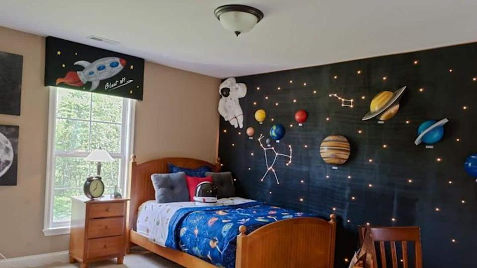 How to setup a space themed bedroom in easy ways