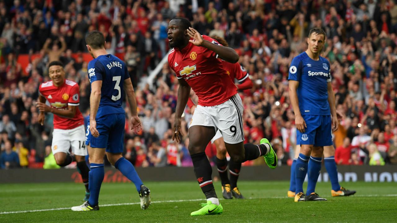 Manchester United romped to a 4-0 win over Everton on Sunday, with the Belgium international scoring against his former team in a late surge