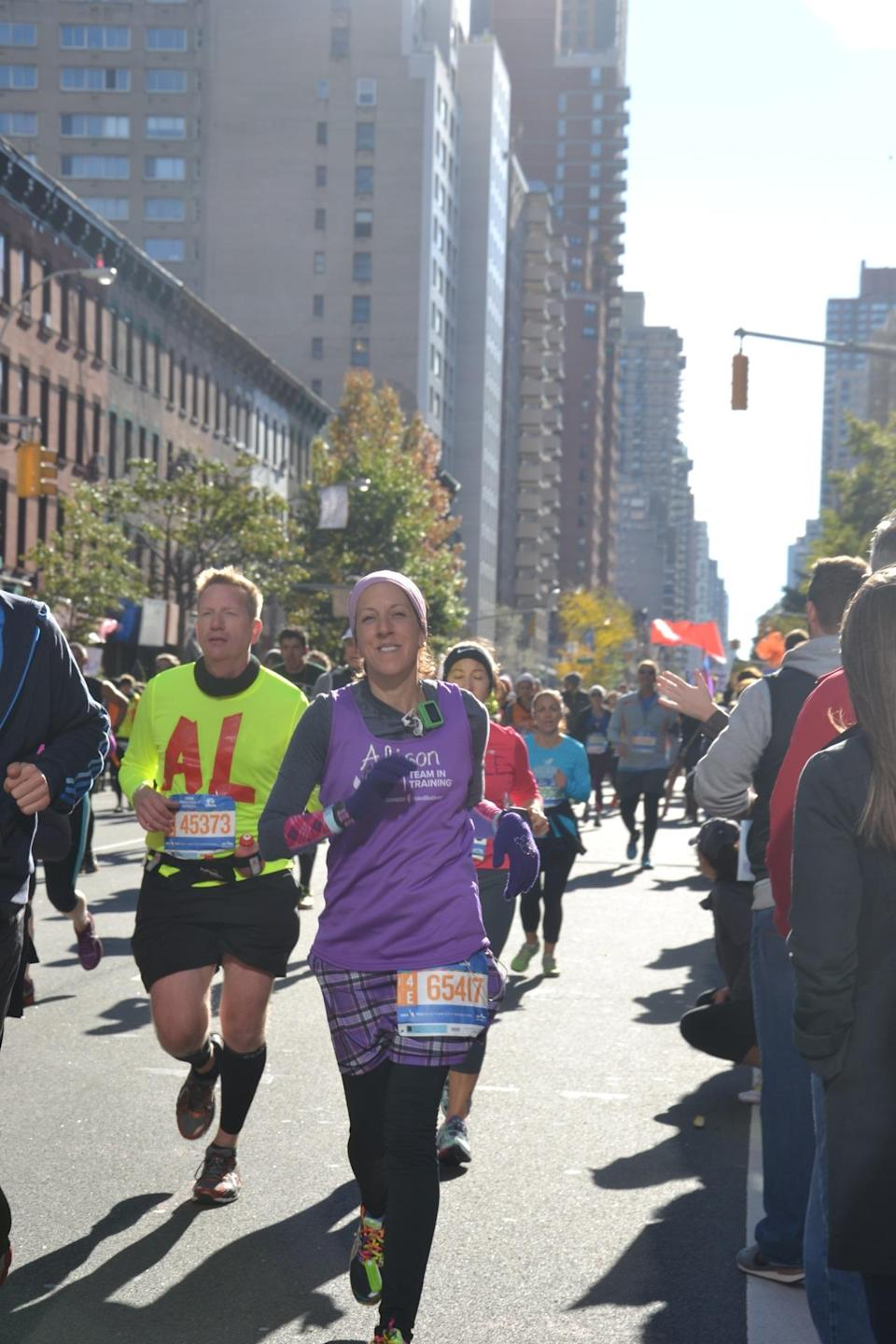 """<p>I wish I realized how both life-changing and addicting this is! I gained a group of like-minded (some would say """"nutty"""") friends with whom I now plan race-cations — vacations around racing. </p><p><i>—Alison O'Brien, 43, Union, New Jersey . Finisher of 18 full marathons and 50 half marathons; raised $14,000 to date for the Leukemia and Lymphoma Society's <a href=""""http://www.teamintraining.org/"""" rel=""""nofollow noopener"""" target=""""_blank"""" data-ylk=""""slk:Team in Training"""" class=""""link rapid-noclick-resp"""">Team in Training</a>.</i><br></p>"""