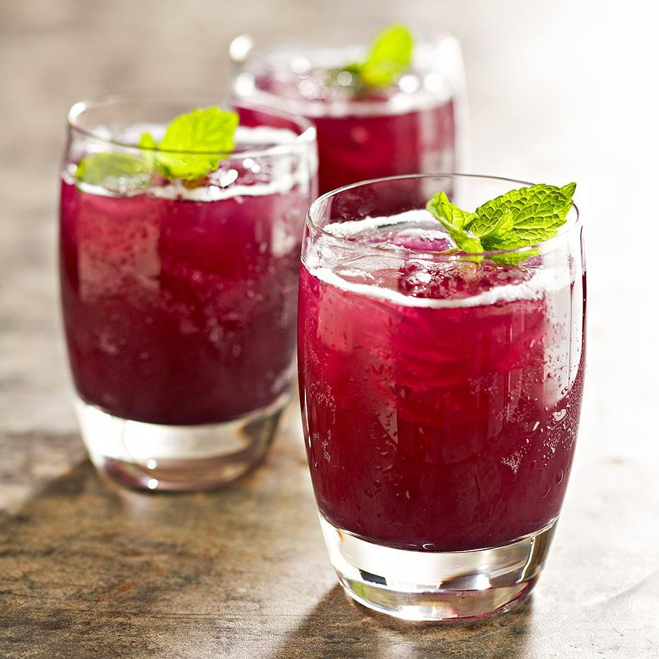 "<p>The sweet flavors of grape and pineapple fuse with fresh mint in this quick and tasty summer drink. <a href=""http://www.eatingwell.com/recipe/263003/grape-pineapple-mint-fizz/"" rel=""nofollow noopener"" target=""_blank"" data-ylk=""slk:View recipe"" class=""link rapid-noclick-resp""> View recipe </a></p>"