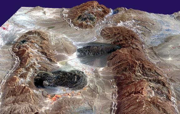In Iran's Zagros Mountains, salt layers have pushed through overlying rock, flowing like glaciers.