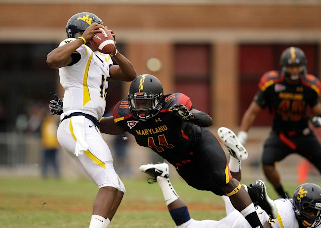 David Mackall, who played college football at Maryland and Delaware, was killed in a shooting in Baltimore. (AP Photo/Patrick Semansky)