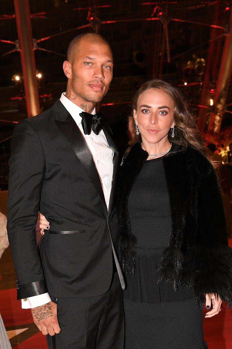 MONTE-CARLO, MONACO - NOVEMBER 19: Jeremy Meeks and Chloe Green attend a Gala during Monaco National Day on November 19, 2018 in Monte-Carlo, Monaco. (Photo by SC Pool - Corbis/Corbis via Getty Images)