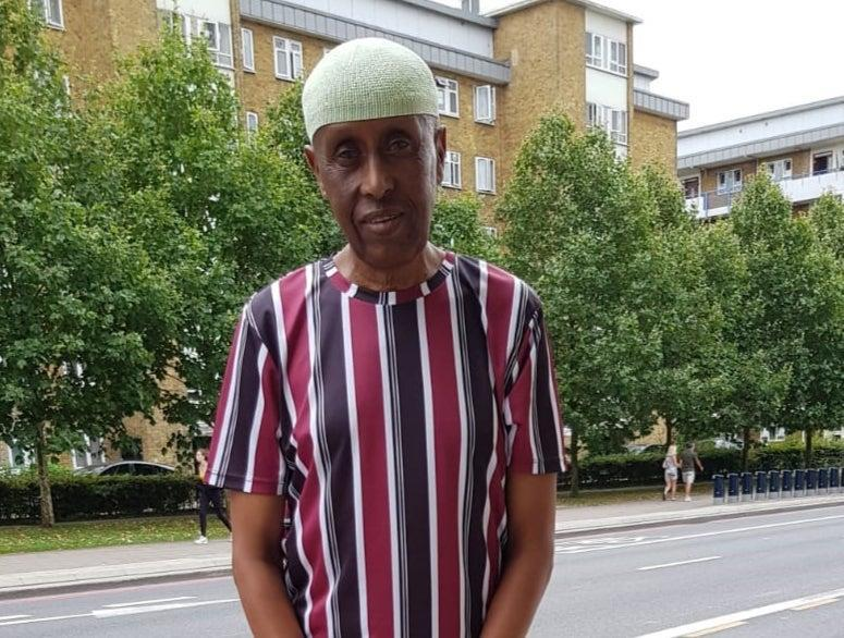 <p>Mohamed Ali Hirsy, an east London resident who has lived in the UK since 1965, says he feels 'let down' by the government</p> (Mohamed Ali Hirsy)