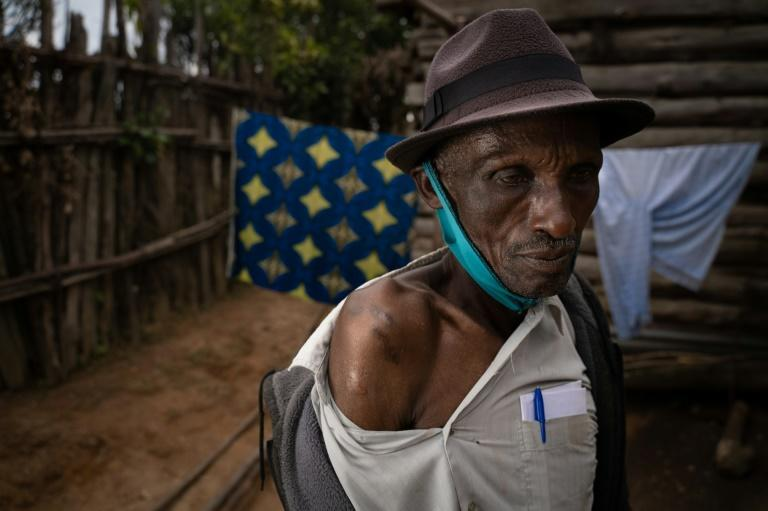 Aaron Kabogora, 71, lost 10 members of his family in the massacre by Hutu militia in western Bisesero