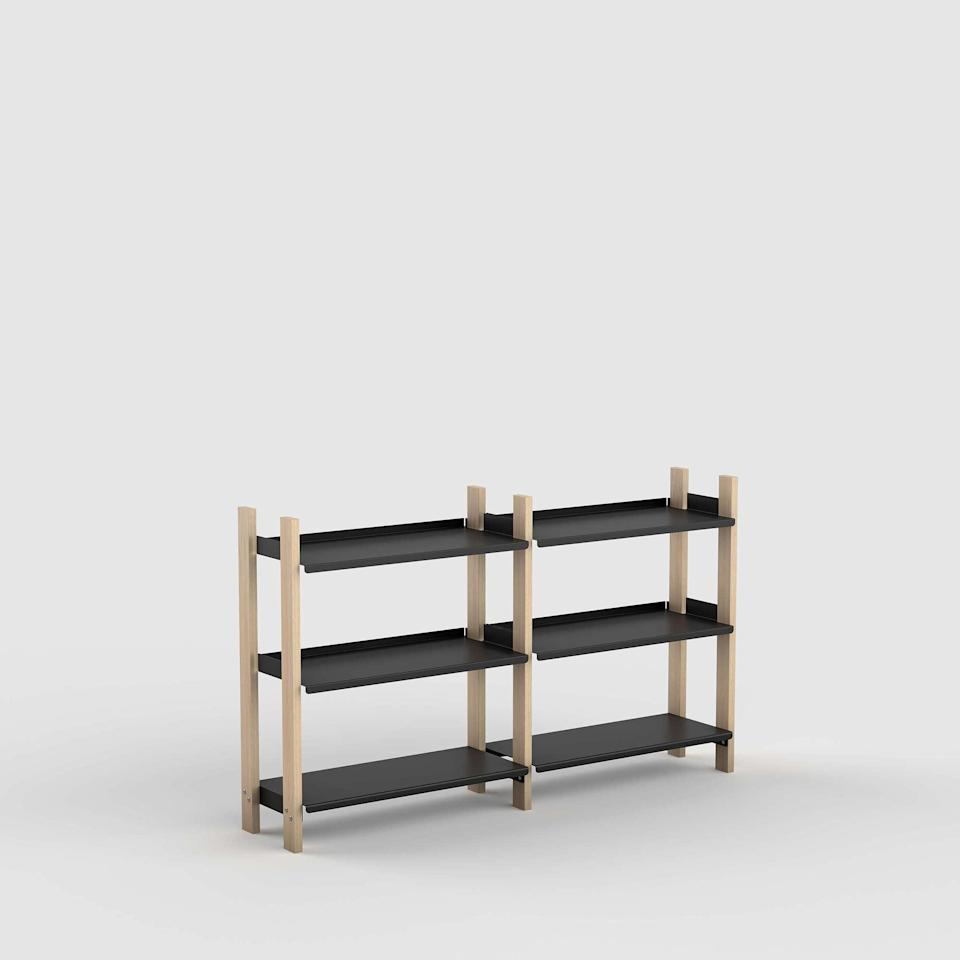 """<h2>Floyd The Floyd Shelving System</h2><br>All hail the era of modular furniture: This Floyd shelf is built to expand and scale down at your leisure. Tack on adjoining pieces when you've got space to build <em>up</em>, or allow your lower shelves to live side by side for additional desk or counter space. Feel free to mix, match, and rearrange when you're in desperate need of a refresh. <br><br><strong>Floyd</strong> The Floyd Shelving System, $, available at <a href=""""https://go.skimresources.com/?id=30283X879131&url=https%3A%2F%2Ffloydhome.com%2Fproducts%2Fthe-floyd-shelving-system%3Fcolor%3DBlack%2B%252F%2BAsh%26shelvingSystems%3Dshort%26Shelf%2BAdd-ons%3DShort%2BAdd-on"""" rel=""""nofollow noopener"""" target=""""_blank"""" data-ylk=""""slk:Floyd"""" class=""""link rapid-noclick-resp"""">Floyd</a>"""
