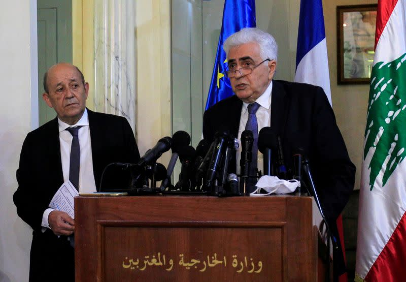 Lebanon explosion no pretext to avoid change, says France's Le Drian