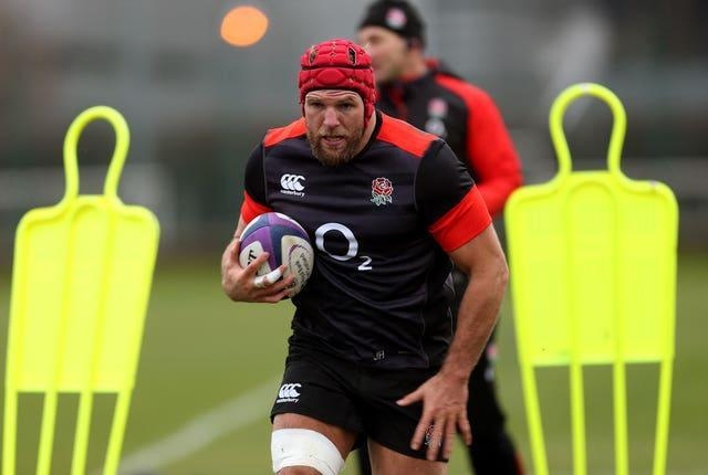 James Haskell in training for England