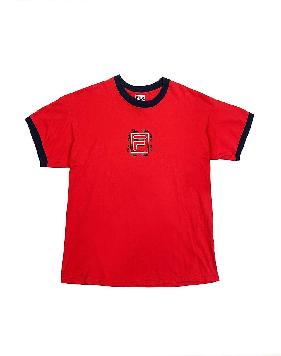"<br><br><strong>Fila</strong> Red Ringer Tee, $, available at <a href=""https://wearecow.com/collections/womens-new-in/products/fila-red-ringer-tee"" rel=""nofollow noopener"" target=""_blank"" data-ylk=""slk:we are cow"" class=""link rapid-noclick-resp"">we are cow</a>"