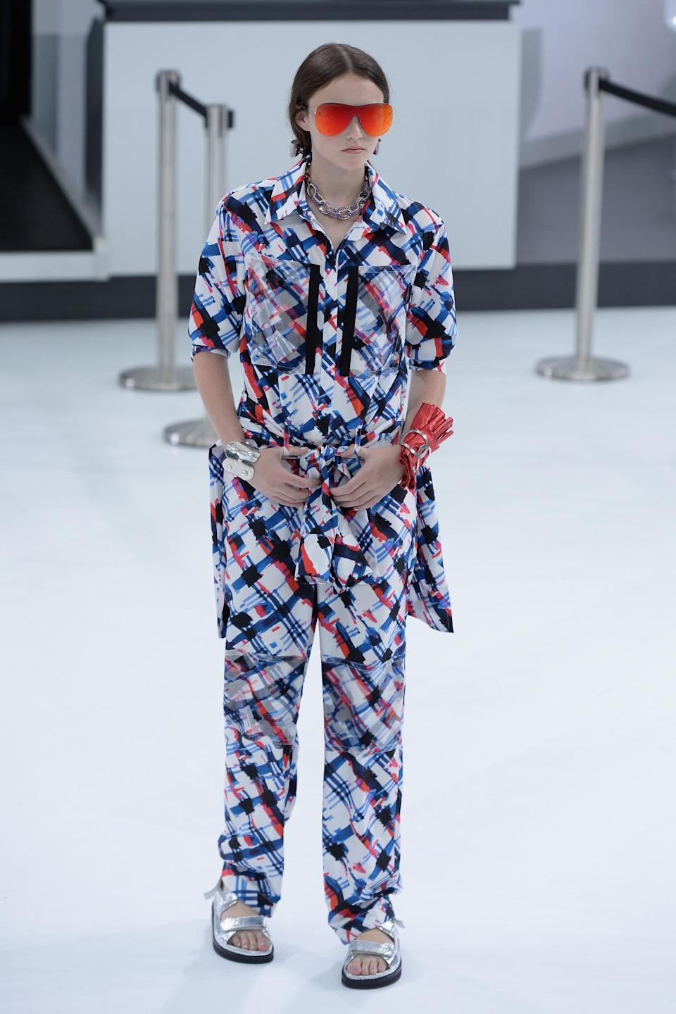 <p>The colors were bright at Chanel in Paris this morning. <i>(Photo: Getty Images)</i></p>