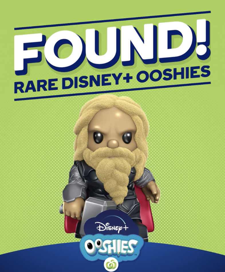 Photo shows ultra-rare furry Thor Ooshie from Woolworths.