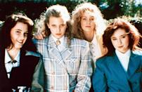 """<p>Without <em>Heathers</em>—still one of the most cutting commentaries on high school cliques around—there would be no <em>Mean Girls.</em> Grab a croquet mallet and settle in for a darkly humorous ride with Winona Ryder, Christian Slater, and the titular Heathers.</p> <p><em>Available to rent on</em> <a href=""""https://www.amazon.com/Heathers-Winona-Ryder/dp/B07P7Y3M9X"""" rel=""""nofollow noopener"""" target=""""_blank"""" data-ylk=""""slk:Amazon Prime Video."""" class=""""link rapid-noclick-resp""""><em>Amazon Prime Video.</em></a> </p>"""