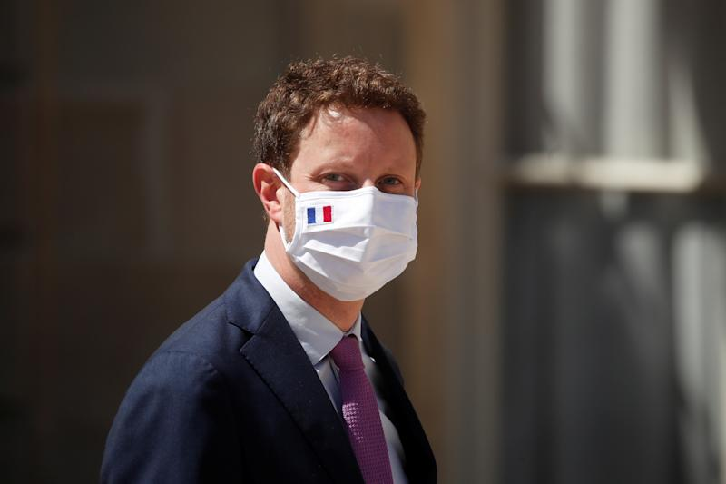 French Junior Minister for European Affairs Clement Beaune, wearing a protective face mask, leaves following the last weekly cabinet meeting before summer vacation break, at the Elysee Palace in Paris, France, July 29, 2020. REUTERS/Benoit Tessier