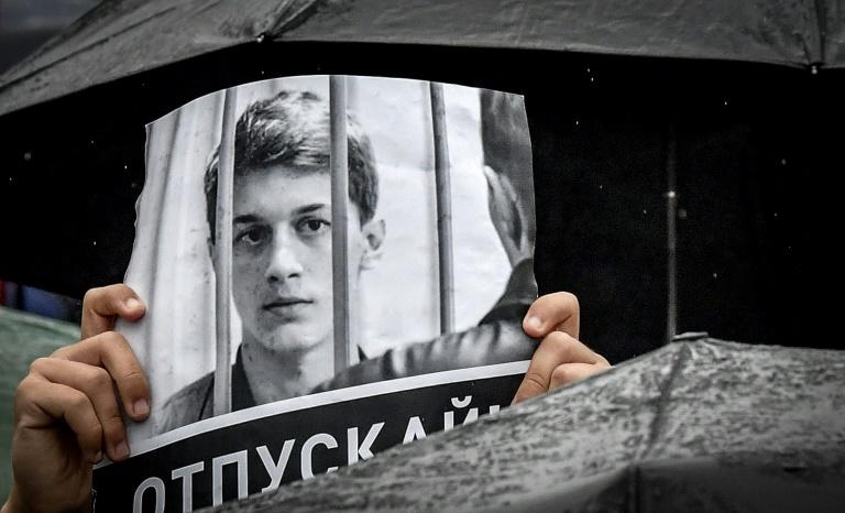 Yegor Zhukov, in jail awaiting trial, was due to begin fourth-year studies at the prestigious Moscow Higher School of Economics (HSE)