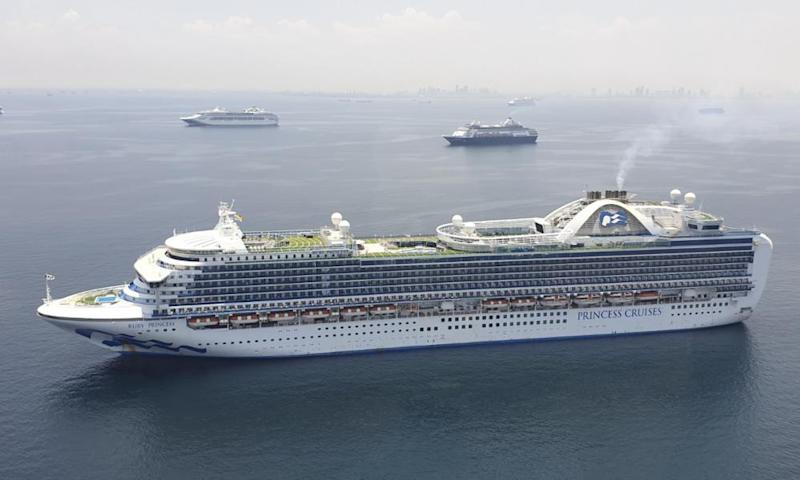 The Ruby Princess arriving in Manila Bay on 7 May