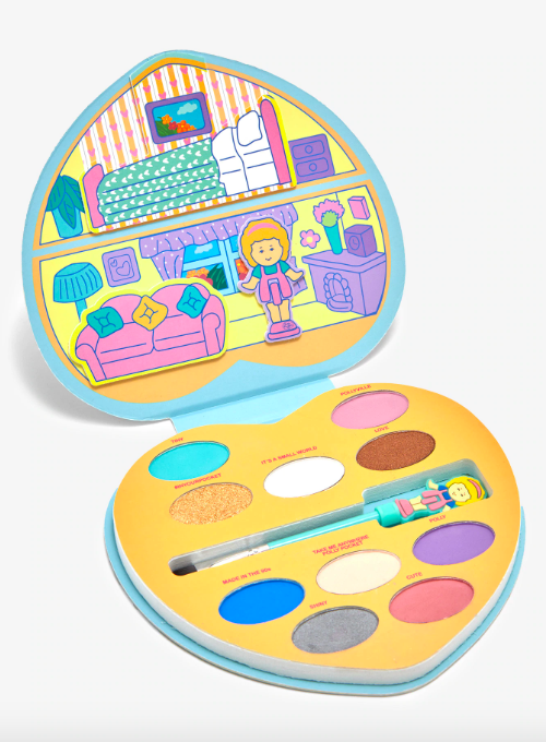 """$16.9, Hot Topic. <a href=""""https://www.hottopic.com/product/polly-pocket-eyeshadow-palette/11432235.html"""">Get it now!</a>"""