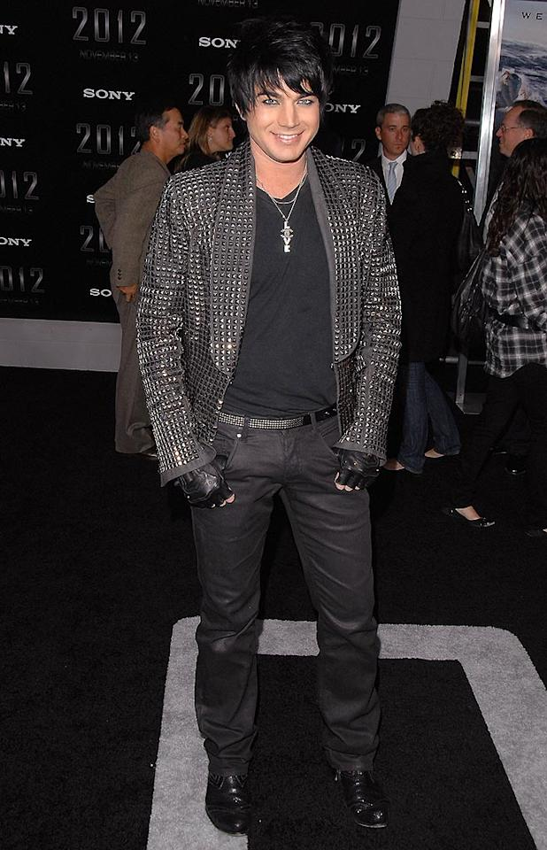 """And finally, in a bit of sad news, Adam Lambert broke up with longtime boyfriend Drake LaBry. Maybe we should've seen it coming last week when his date to the """"This Is It"""" premiere was Katy Perry? Jon Kopaloff/<a href=""""http://www.filmmagic.com/"""" target=""""new"""">FilmMagic.com</a> - November 3, 2009"""