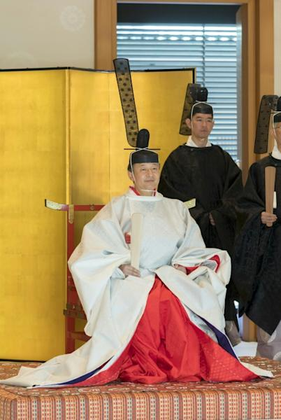 Imperial ceremonies feature rarely seen outfits and regalia (AFP Photo/HANDOUT)