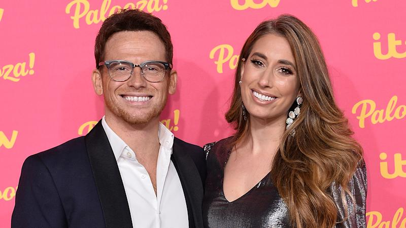 Joe Swash and girlfriend Stacey Solomon attend the ITV Palooza 2019 at the Royal Festival Hall