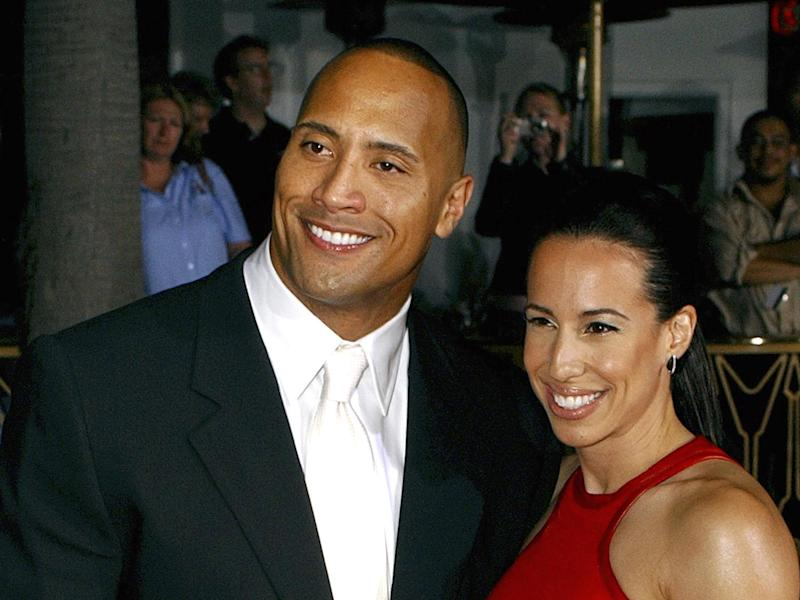 "Dwayne Johnson aka ""The Rock"" and Dany Garcia (l-r), husband and wife, photo"