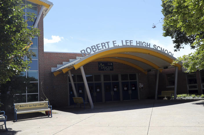 The Fairfax County School Board voted Thursday to rename Robert E. Lee High School in Springfield, Va., in honor of U.S. Rep. John Lewis. (mpi34/MediaPunch /IPX via AP)
