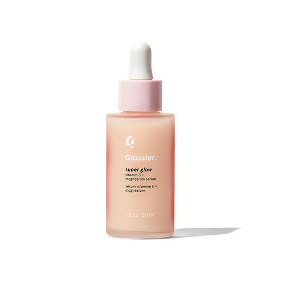 """<p><strong>Glossier</strong></p><p>glossier.com</p><p><strong>$28.00</strong></p><p><a href=""""https://go.redirectingat.com?id=74968X1596630&url=https%3A%2F%2Fwww.glossier.com%2Fproducts%2Fsuper-glow&sref=https%3A%2F%2Fwww.bestproducts.com%2Fbeauty%2Fg20966726%2Fvitamin-c-face-serum-reviews%2F"""" rel=""""nofollow noopener"""" target=""""_blank"""" data-ylk=""""slk:Shop Now"""" class=""""link rapid-noclick-resp"""">Shop Now</a></p><p>Glossier is known for pumping out beauty hit after hit, and this serum definitely does not disappoint. It's a fusion of magnesium and vitamin C to give your skin an instant glow without any sticky residue.</p>"""