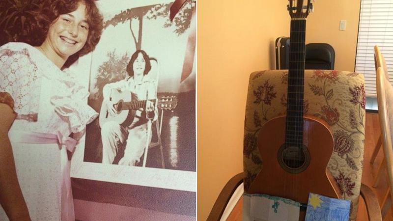 Woman Reunited With Childhood Guitar 36 Years Later From Family 1,000 Miles Away