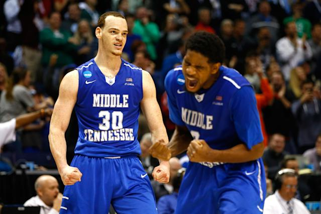 Middle Tennessee's 2016 victory over Michigan State may be the biggest first-round upset ever. (Getty)