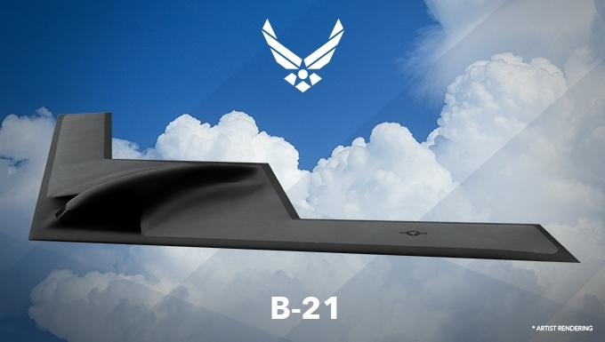 US Air Force released an artist's impression of the B-21 bomber (AFP Photo/)