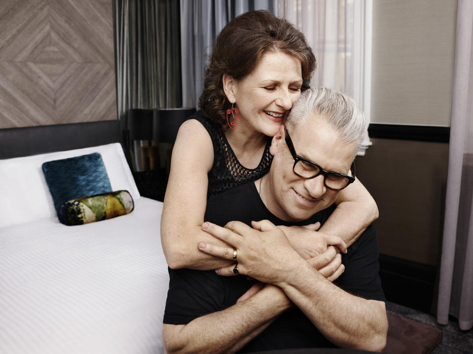 Rankin photographed Mark Kermode and Linda Ruth Williams for Marriott Bonvoy hotels. (MarriottLoyalyandLove.com)